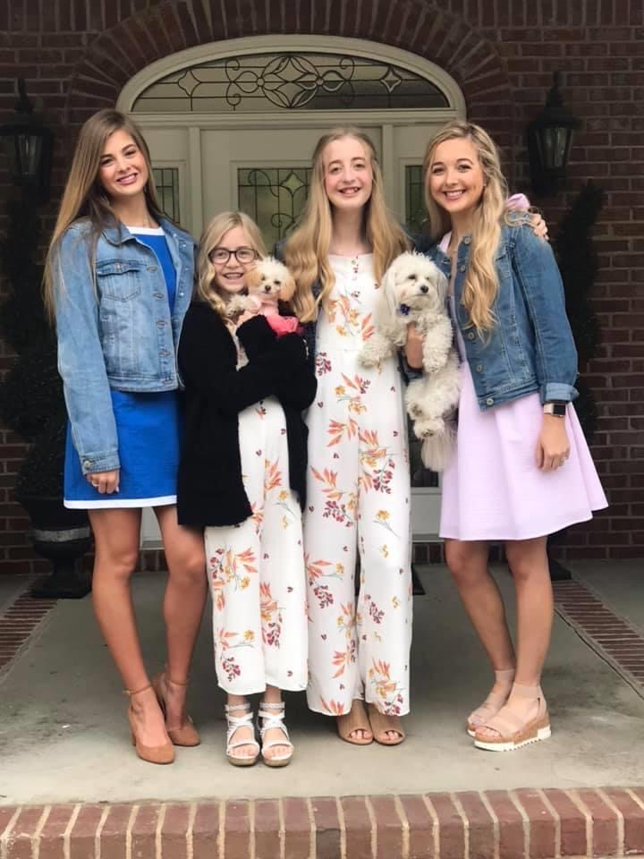My girls last Easter